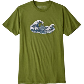 Patagonia Oily Olas Organic T-Shirt Men Sprouted Green